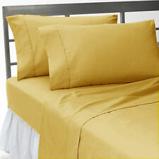 """GOLD SOLID ALL BEDDING COLLECTION 1000 TC 100%EGYPTIAN COTTON """"OLYMPIC-QUEEN"""""""