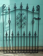 "Wrought Iron Metal Garden Gate-TOP QUALITY - 3ft 6"" (1067mm) Frame height"