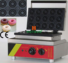 15pcs 110V 220V Electric Commercial Mini Donut Doughnut Iron Baker Maker Machine