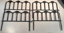 Vintage Cast Iron Garden Fence Outdoor Decorative Fences Circle & Hook Together
