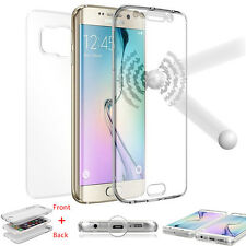 360 Shockproof Protective Full Body Soft TPU Case Cover Skin For Samsung S6 S5