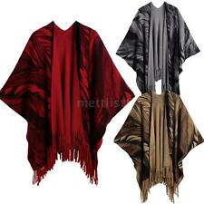 Fashion Women Cardigan Loose Coat Long Sleeve Sweater Poncho Jacket Casual U5V3