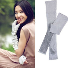 Long Lace UV Sun Protection Driving Gloves Golf Arm Sleeves