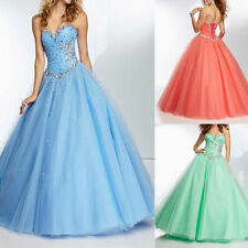 HOT Tulle Wedding Bridesmaid Dress Quinceanera Prom Ball Gown Stock SIZE 6 -16