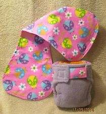 Small AIO Cloth Diapers/Nappies and Burp Cloth