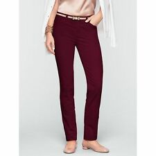 Brand NEW Talbots Misses Curvy Velveteen Ankle Pants Color Purple Size 2