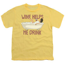 BOBS BURGERS WINE HELPS Kids Youth Licensed Tee Shirt SM-XL Sizes 6-20
