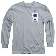 X FILES SCULLY BADGE Licensed Men's Long Sleeve Graphic Tee Shirt SM-2XL