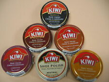 Kiwi Shoe Polish Leather Boot Shine Paste Protector Large Can 2.5 oz. - Colors