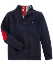 Tommy Hilfiger Boy's Quarter-Zip Elbow Patch Sweater 2T NWT