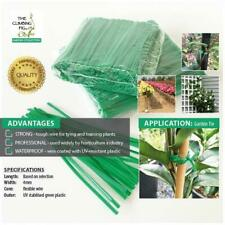 200mm Wire Twist Ties. Green Plastic Coated | Garden Plant Orchid Trellis Bonsai