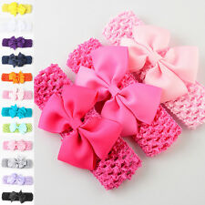 Baby Kids Girl Toddler Lace Bowknot Headband Hair Band Headwear Accessories Hot