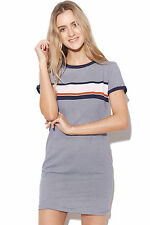 New ALL ABOUT EVE Airlie Dress Navy Stripe Womens