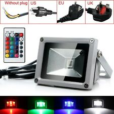 Waterproof 10W RGB LED Flood Light Landscape Lamp Spotlight Outdoor Home Garden
