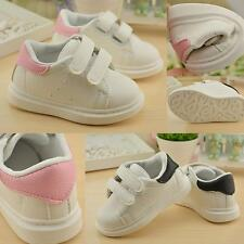 Boys Girls White Casual Sneakers Toddler Pre-School Shoes Kids Children