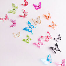 18X 3D Butterfly Wall Stickers Art Decal DIY PVC Butterflies Home Room Decor