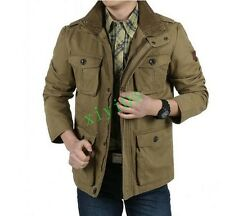 WINTER MENs CARGO CASUAL COTTON LOOSE MILITARY WIND JACKETS COATS PLUS SZ M-8XL