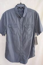NWT! Calvin Klein Jeans Men's Dash Dobby Button Front Short Sleeve Shirt $59.50