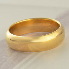 Smooth 9K Real Gold Filled Mens womens Band Ring Size7 8 9 10 11 Free Shipping