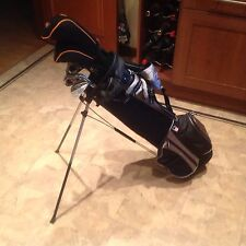 Set of US Kids Golf Clubs, Driver, 3 Wood, 4 Rescue, 6,7,8,p/w,s/w and Putter