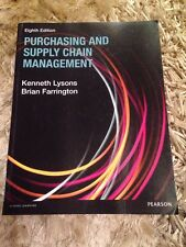 Purchasing And Supply Chain Management (Lysons And Farrington)