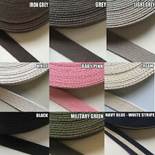 25 mm  Canvas Cotton Webbing Belt Fabric Strap Thick DIY Sewing Bag Making STRAP