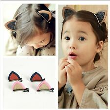2PC Kids Lovely Cute Cat Ears Hairpins Hair Clips Hair Accessories Barrettes New