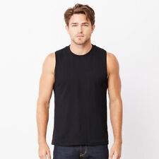 Bella+Canvas BE118 Mens Slim Fit Jersey Muscle Tank Top Gym Sports Wear Vests
