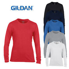 Gildan Women's Gildan Performance Long Sleeve Crew Neck T-shirt Wicking Top New
