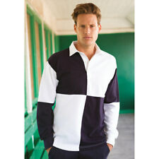 Front Row Men's Quartered Heavy Jersey Long Sleeve Traditional Rugby Shirt New