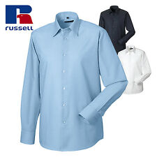 Russell Collection Long sleeved easycare tailored Oxford shirt (J922M)