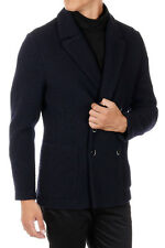 BARENA New Men Blue Wool Blend BREDA MAGLIO Blazer Made in Italy NWT