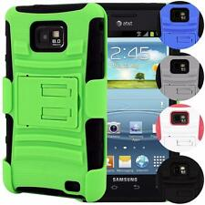Full Impact Armor Hybrid Kickstand Beltclip Holster Case For Galaxy S2 At&t