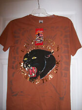 ED HARDY BOYS black panther BROWN / TAN  BRAND NEW T-SHIRT WITH TAGS