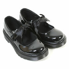 Dr Martens Junior Maccy II Patent Leather Mary Jane Shoe Black