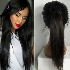 Yaki straight Full/front lace wig Human Hair baby hair bleached knots for women