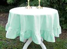 Set of 5pc 100% Egyptian cotton Ruffle Table Cloth- Round Shape ALL color & size