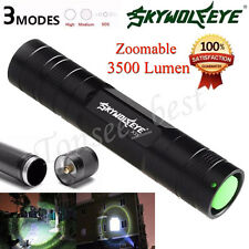 3500 Lumen 3 Modes CREE Q5 LED Flashlight 18650 Mini Torch Aluminum Lamp Light