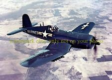 USN NAVY F4U Corsair Color Photo Military Air Combat Fighter Plane Aircraft