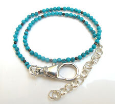 turquoise gemstone beads bead 925 sterling silver wrap bracelet natural blue
