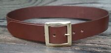 1 3/4 inch wide mens leather belt, solid brass centrebar buckle Australian made