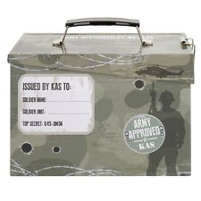 Kids Army Ammo Tin Lunch Box - Toy Storage Tin - Camouflage Ammo Box. Free Deliv