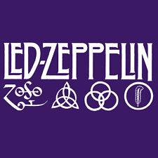 Led Zeppelin IV Zoso Four Runes Symbols Houses Of the Holy Ladies Shirt