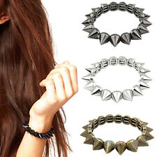 Bracelet Punk Rock Gothic Rock Rivet Stud Spike Rivet Bangle Girls Cool Fashion