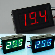 0.56inch DC 0-30V Wire 3 Digital LED Panel Voltmeter Voltage Meter Test Red/Blue