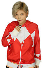 Power Rangers Hoodie Costume Red Zip Up Coat Movie Cosplay or Casual Costumes