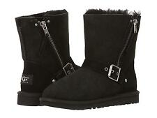 UGG GIRLS YOUTH  KIDS BOOTS CLASSIC SHORT BLAISE BLACK SIZE 1 2 3 4 NEW