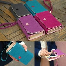 Leather Multifunction Envelope Case Purse Wallet For Samsung Galaxy Iphone BF9