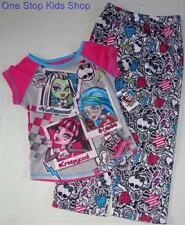 MONSTER HIGH Girls 6 6X 7 8 10 12 14 16 Pjs Set PAJAMAS Shirt Pants Draculaura