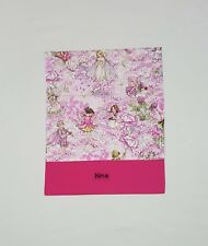$FREE NAME PETAL FLOWER FAIRY DESIGN PERSONALISED EMBROIDERY LIBRARY BAG (FD)